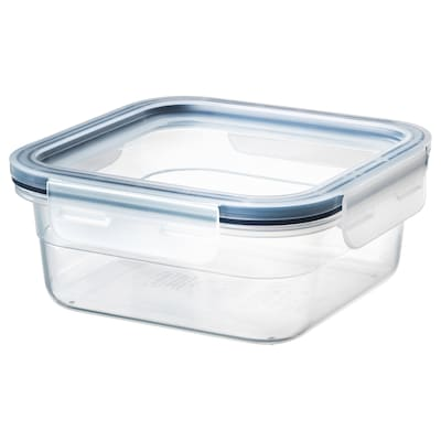IKEA 365+ food container with lid square/plastic 15 cm 15 cm 7 cm 750 ml