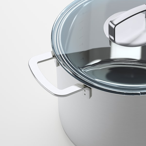 IKEA 365+ Stockpot with lid, stainless steel/glass, 10 l