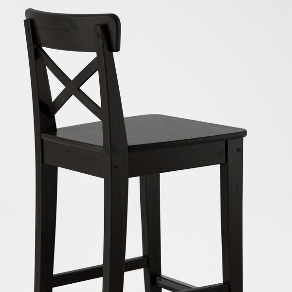 INGOLF bar stool with backrest brown-black 110 kg 39 cm 45 cm 93 cm 40 cm 35 cm 63 cm