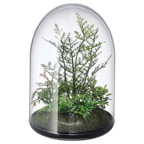 INVÄNDIG Artificial terrarium, dome, 15 cm