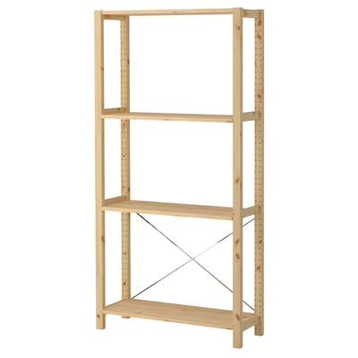 IVAR 1 section/shelves, pine, 89x30x179 cm