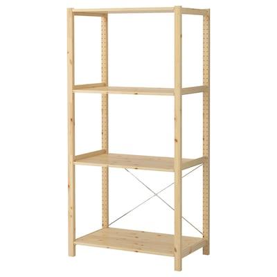 IVAR 1 section/shelves, pine, 89x50x179 cm