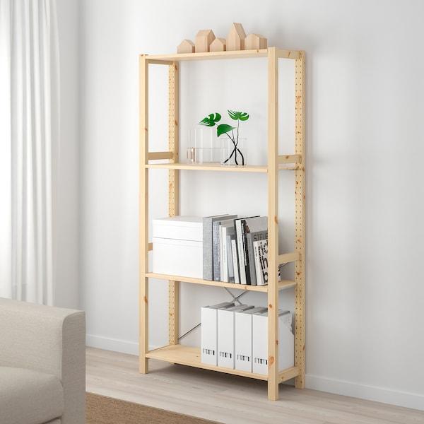IVAR 1 section/shelves, pine, 89x30x179 cm