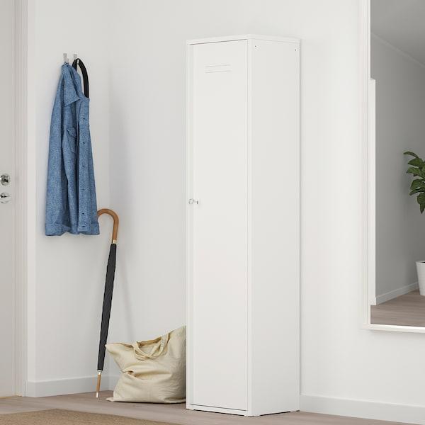 IVAR Cabinet with door, white, 40x160 cm