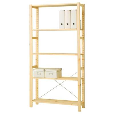 IVAR Shelving unit, pine, 89x30x179 cm