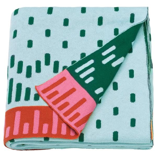 KÄPPHÄST blanket knitted/multicolour 150 cm 120 cm