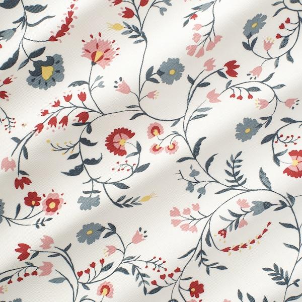 KALKBRÄKEN Fabric, white/floral patterned, 150 cm