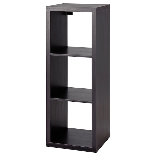 KALLAX Shelving unit, black-brown, 42x112 cm