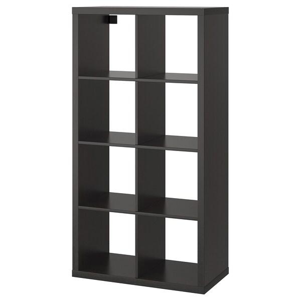 KALLAX Shelving unit, black-brown, 77x147 cm