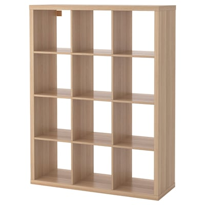 KALLAX shelving unit white stained oak effect 112 cm 39 cm 147 cm 13 kg