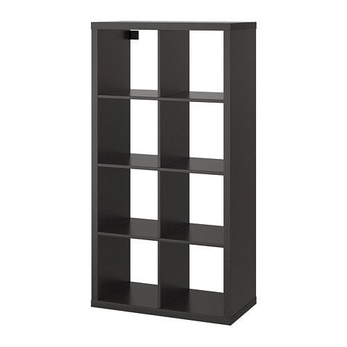 Scaffali Ikea Kallax.Kallax Shelving Unit Black Brown