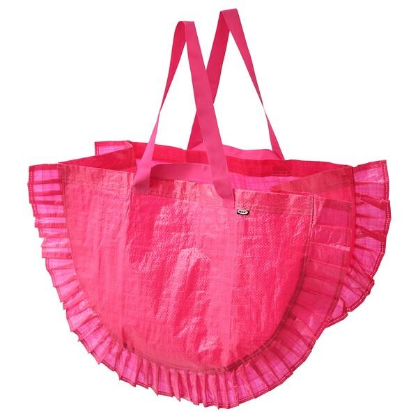 KARISMATISK Carrier bag, large, pink, 60 l