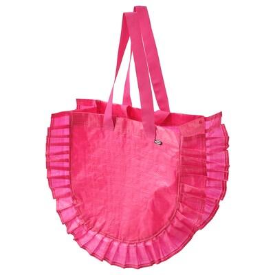 KARISMATISK Carrier bag, medium, pink, 25 l