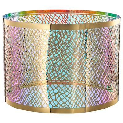 KARISMATISK Lamp shade, net pattern gold-colour, 44 cm