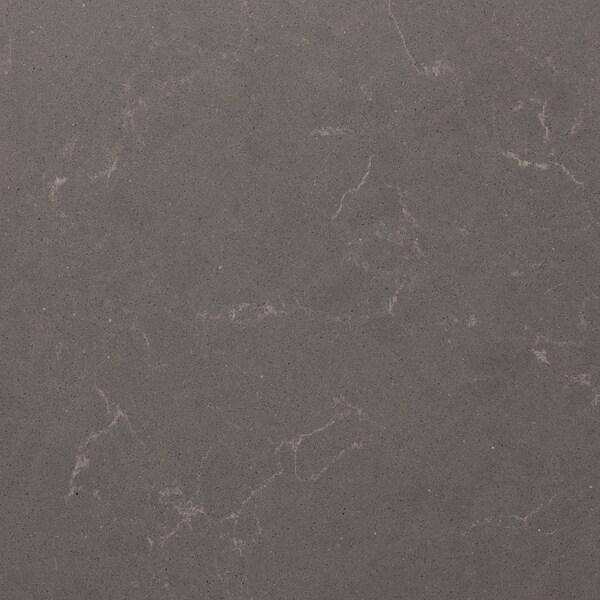 KASKER custom made worktop matt dark grey/marble effect quartz 100 cm 20 cm 295 cm 10.0 cm 135.0 cm 3.0 cm 1 m²