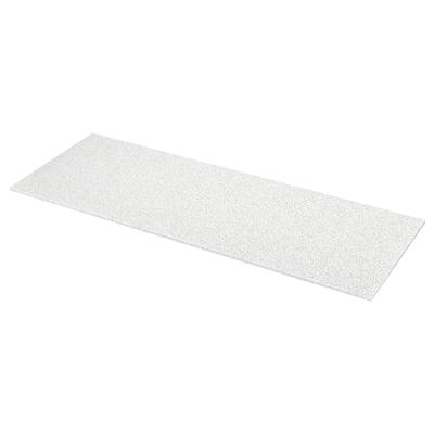 KASKER Custom made worktop, white with mineral/glitter effect/quartz, 1 m²x2.0 cm
