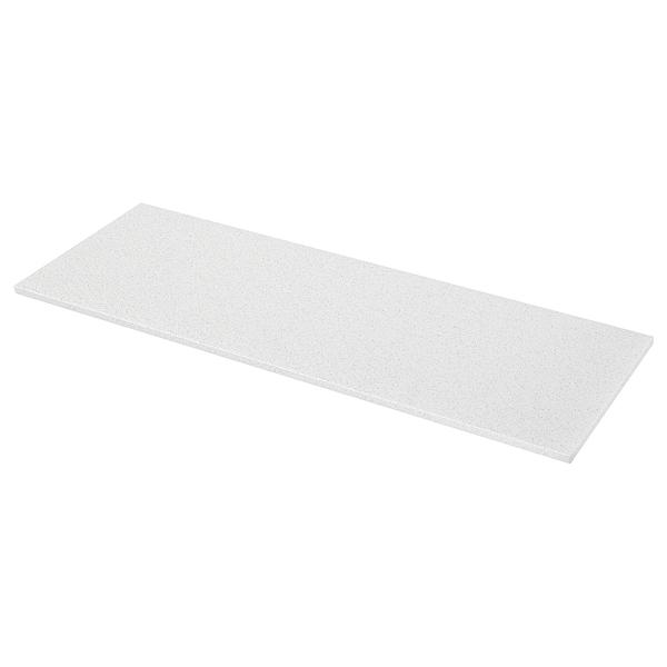 KASKER custom made worktop white with mineral/glitter effect/quartz 100 cm 20 cm 295 cm 10.0 cm 135.0 cm 3.0 cm 1 m²