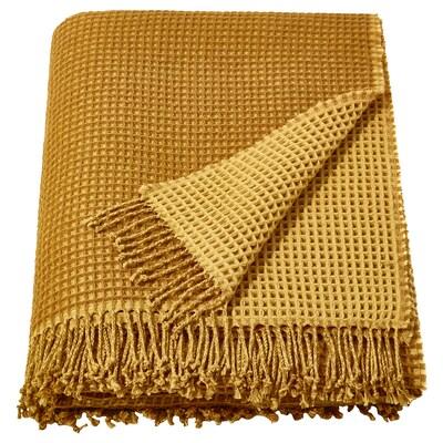 KERSTI Throw, golden-yellow, 150x200 cm