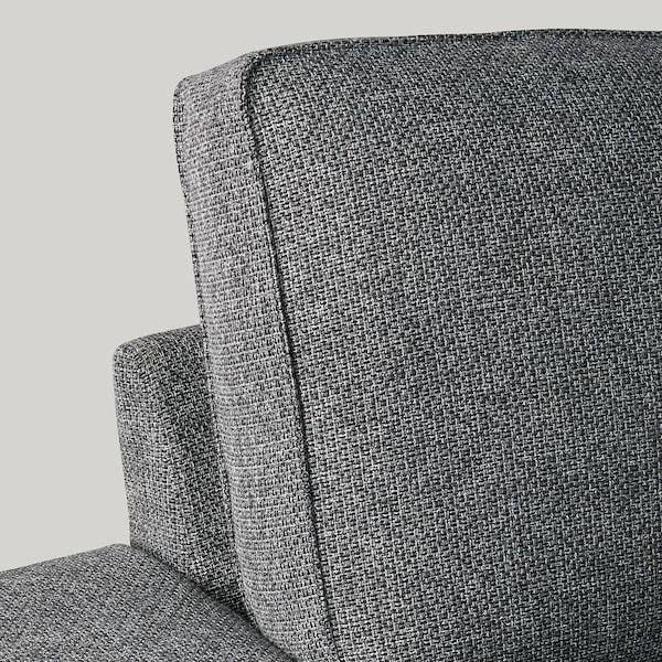 KIVIK 4-seat sofa, with chaise longue/Lejde grey/black