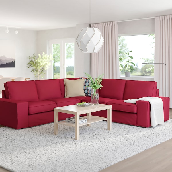 KIVIK corner sofa, 4-seat Orrsta red 95 cm 83 cm 257 cm 257 cm 60 cm 45 cm