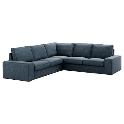 KIVIK corner sofa, 4-seat Hillared dark blue 95 cm 83 cm 257 cm 257 cm 60 cm 45 cm