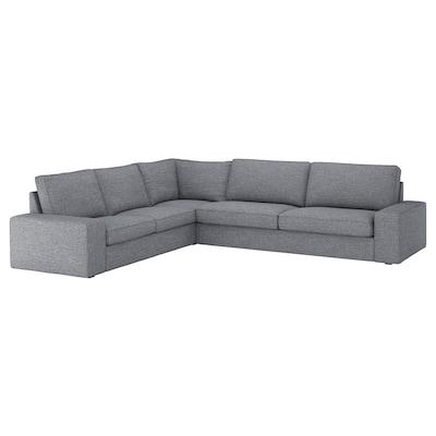 KIVIK corner sofa, 5-seat Lejde grey/black 95 cm 83 cm 297 cm 257 cm 60 cm 45 cm 24 cm