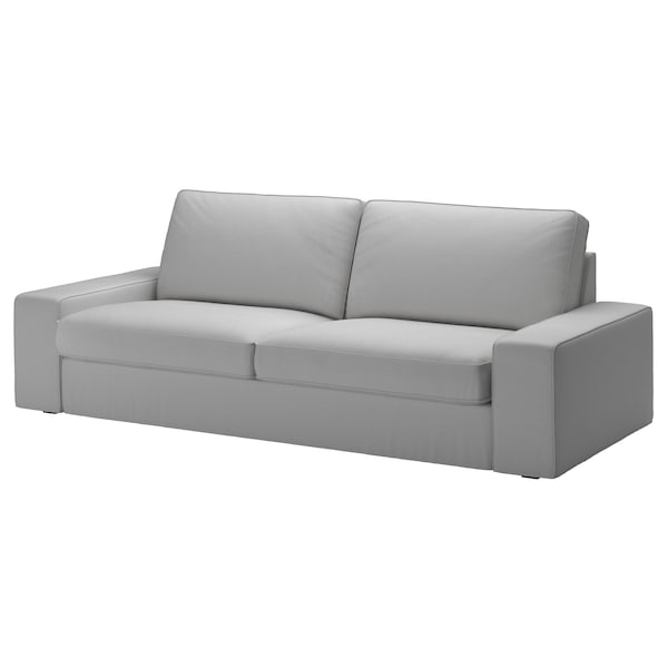 KIVIK cover three-seat sofa Orrsta light grey