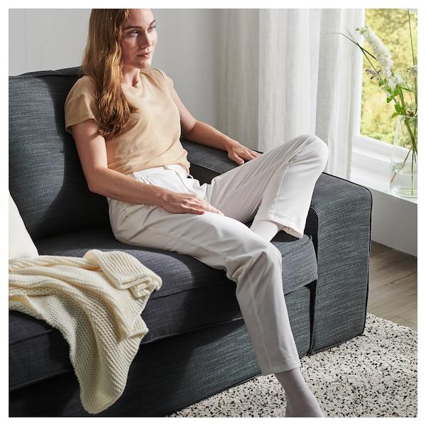KIVIK corner sofa, 6-seat with chaise longue/Skiftebo dark grey 163 cm 83 cm 124 cm 387 cm 257 cm 24 cm 60 cm 45 cm