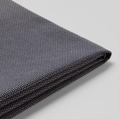 KLIPPAN cover for 2-seat sofa Kabusa dark grey 2 pieces