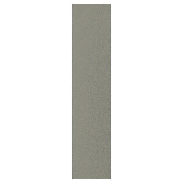 KLUBBUKT Door, grey-green, 40x180 cm