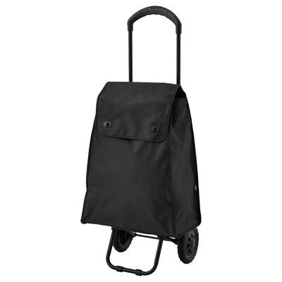 KNALLA shopping bag on wheels black 41 cm 25 cm 51 cm 20 kg 42 l