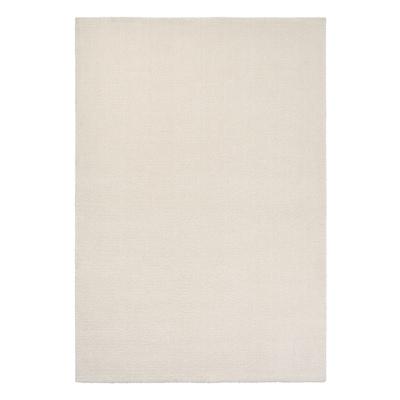 KNARDRUP Rug, low pile, white, 133x195 cm