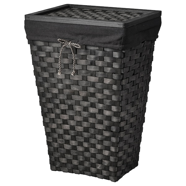 KNARRA laundry basket with lining black/brown 38 cm 29 cm 57 cm 38 l