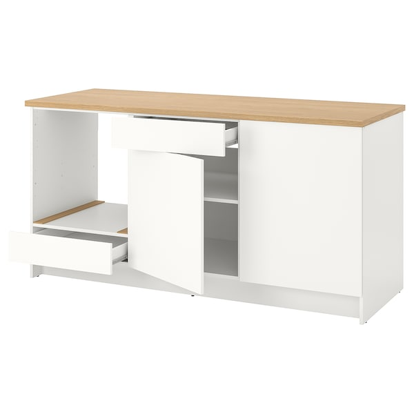 KNOXHULT base cabinet with doors and drawer white 182.0 cm 180.0 cm 61.0 cm 91.0 cm