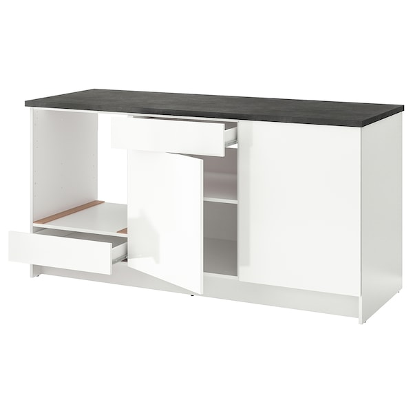KNOXHULT base cabinet with doors and drawer high-gloss white 182.0 cm 180.0 cm 61.0 cm 91.0 cm