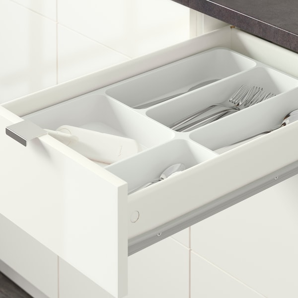 KNOXHULT base cabinet with drawers high-gloss white 42.0 cm 40.0 cm 61.0 cm 91.0 cm
