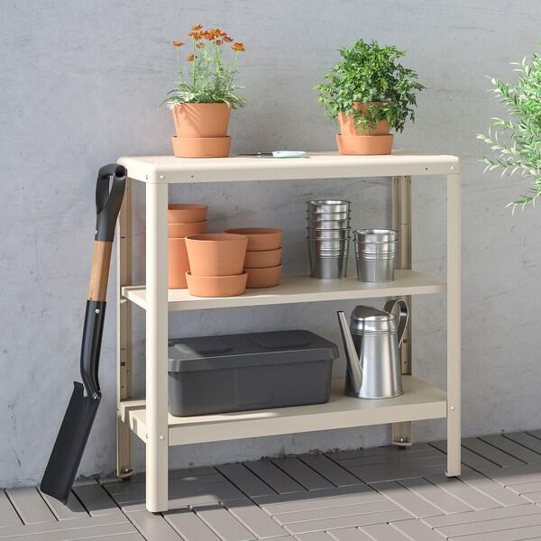 KOLBJÖRN Shelving unit in/outdoor, beige, 80x81 cm