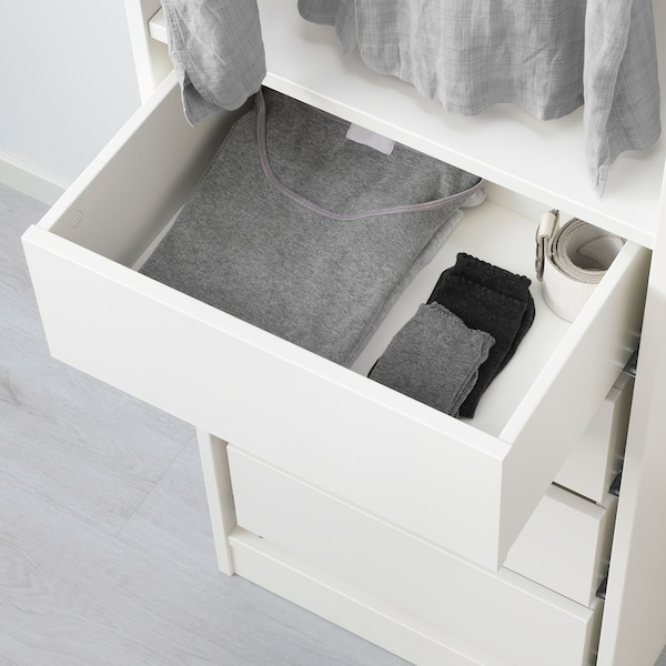 KOMPLEMENT drawer white 50 cm 35 cm 42.8 cm 34.1 cm 16.0 cm 40.1 cm 30.5 cm