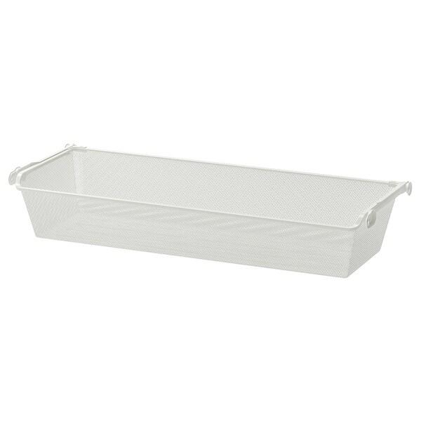 KOMPLEMENT mesh basket with pull-out rail white 96.5 cm 100 cm 33.5 cm 16 cm 35 cm 15 kg