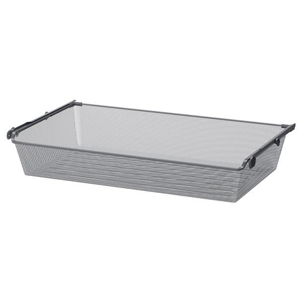 KOMPLEMENT mesh basket with pull-out rail dark grey 96.5 cm 100 cm 53.3 cm 16 cm 58 cm 15 kg