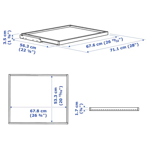 KOMPLEMENT Pull-out tray, white stained oak effect, 75x58 cm