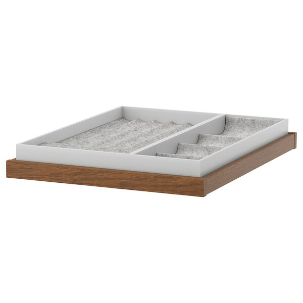 KOMPLEMENT pull-out tray with insert brown stained ash effect 46.1 cm 50 cm 56.3 cm 6.7 cm 58 cm 10 kg