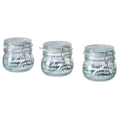 KORKEN jar with lid 7 cm 7 cm 13 cl 3 pack