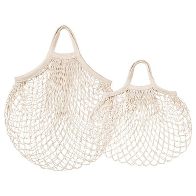 KUNGSFORS Net bag, set of 2, natural