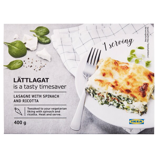 LÄTTLAGAT lasagne spinach/ricotta 400 g