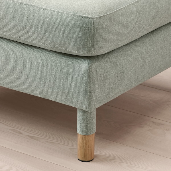 LANDSKRONA Footstool, Gunnared light green/wood