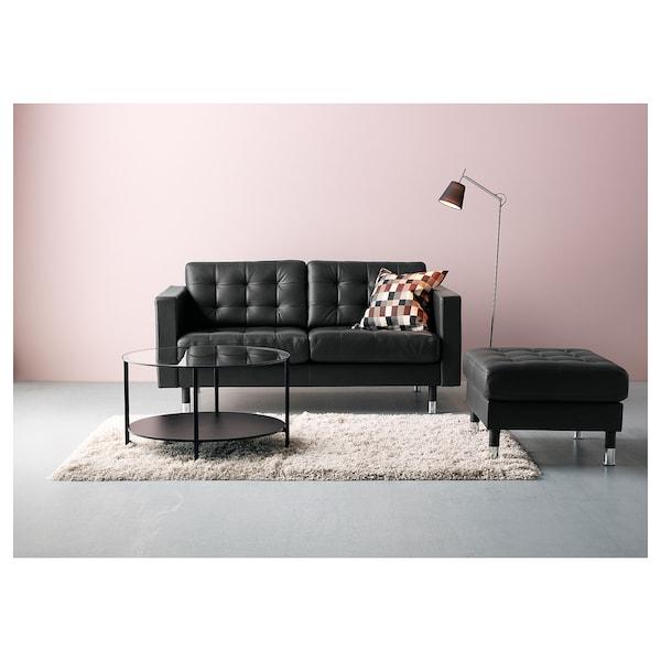 LANDSKRONA two-seat sofa Grann/Bomstad black/metal 164 cm 89 cm 78 cm 64 cm 61 cm 44 cm