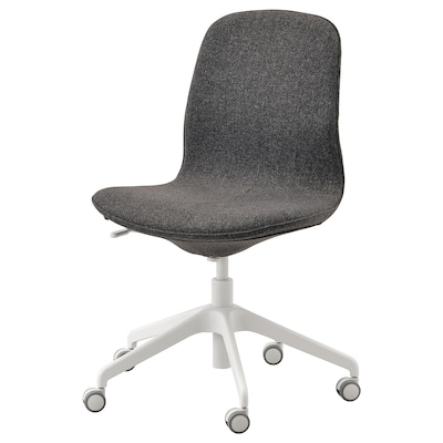 LÅNGFJÄLL office chair Gunnared dark grey/white 110 kg 68 cm 68 cm 92 cm 53 cm 41 cm 43 cm 53 cm