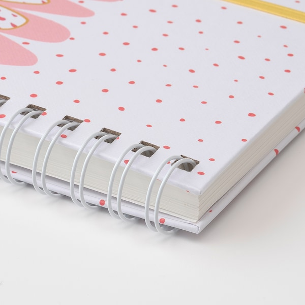 LANKMOJ note-book white/green pink 100 pieces 17.0 cm 12.5 cm 1.9 cm 80 g/m²