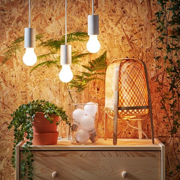 LEDARE LED bulb E27 600 lumen warm dimming/globe opal white 600 lm